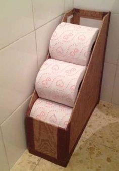 Store Toilet Paper In Magazine Holder | 19 DIY Magazine Holder Organization Ideas