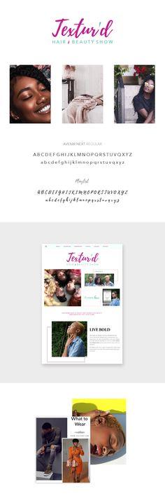 Textur'd Hair & Beauty Show Branding & Squarespace Website by Roushelle Reign Brand Identity, Branding, Reign, Toronto, Hair Beauty, Events, Website, Happenings, Brand Management