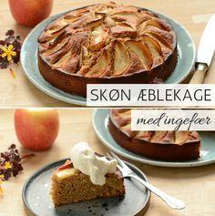 Forrygende æblekage med frisk ingefær og kanel, som passer suverænt godt sammen med æblerne og skaber en rigtig lækker smag. Helt perfekt med flødeskum eller creme fraiche på toppen.