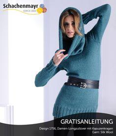 Das Must Have der Saison sind Loopschals, hier als Pullover mit Loopschalkombination interpretiert. Trendig im Look durch das hochwertige und weiche Garn #SilkWoolWolle