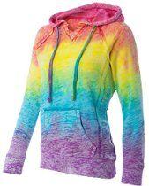 Koloa Surf Co. Womens Rainbow Stripe V-Neck Burnout Hoodies in Sizes S-2XL   #Fashion ╰☆╮ #ProvenAsTheBest ╰☆╮ **Like**Pin**Share** ♥ FoLL0W mE @ www.provenasthebest.com ♥