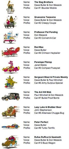 Wacky Races  Google Search