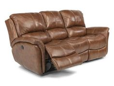 Shop for Flexsteel Power Reclining Sofa, 1445-62P, and other Living Room Sofas at Schmitt Furniture Company in New Albany, IN. The Dominique style comes standard with attached high-density seat cushions and attached back cushions. This style also comes standard with Flexsteel's exclusive, lifetime-guaranteed DualFlex Spring System.