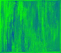 Morning Terrain Green Fusion Ltd Ed of 25 #art #green #blue #painting