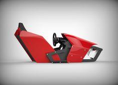 Assetto Corsa: Cockpit : Du concept-art à la fabrication Racing Seats, Racing Wheel, Display Design, Booth Design, Gaming Room Setup, Gaming Chair, Office Games, Motorbike Design, Racing Simulator