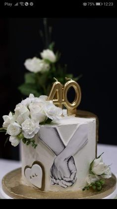 Cake Decorating Piping, Creative Cake Decorating, Cake Decorating Videos, Cake Decorating Supplies, Cake Decorating Techniques, Beautiful Birthday Cakes, Birthday Cakes For Women, Beautiful Cakes, Marriage Anniversary Cake