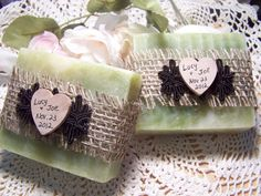 30 bridal shower favors soaps   personalized by CountryChicSoaps