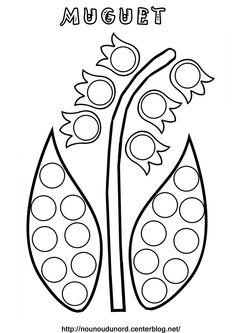 Spring Activities, Preschool Activities, Activities For Kids, 1 Er Mai Muguet, Coloring For Kids, Coloring Pages, 1. Mai, Do A Dot, Creation Crafts