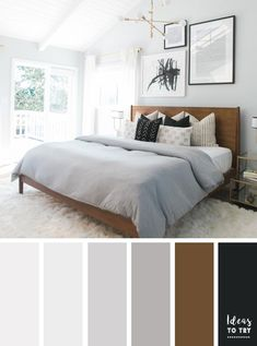Neutral bedroom color palette , neutral ,color inspiration
