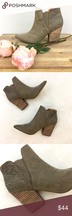 """Report Studded Ankle Boots💓FINAL PRICE Super chic pointed toe ankle boots. Perfect condition! 3"""" heel 🌷 Mostly vegan materials but they feel like suede (not cheap at all!) Report Shoes Ankle Boots & Booties"""