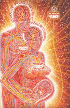 An illustration of life from Alex Grey