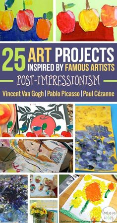 25 Art Projects Inspired by Famous Artists! If you need some art ideas for elementary children this is the roundup for you! Informations About 25 Art Projects Inspired by Famous Artists: Post-Impressi