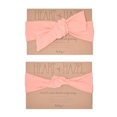 """This dusty pink color is a lovely twist on traditional """"baby pink""""... perfect for girly girls!Knotted turbans are sized based on head circumference.  You can use your child's clothing size for reference or measure her head and subtract 1-2"""" to find the perfect fit.Tie Turbans can be retied to fit any size, NB-adult.  (Perfect for growing kids or mamas who want to share with their babes!)"""