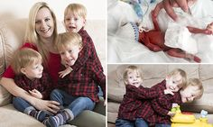Triple miracles! Mother's joy as sons become tiniest that survived #DailyMail