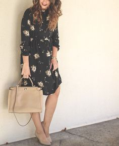 Black Floral Dress - Work holiday party dress - Choies - How 2 Wear It - what to wear to work for the holiday's