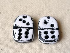 Dominoes  Game Peices  Polymer Clay  Matching Set by BeadSoupBeads, $8.50