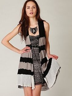 free people clothing | ... / Tie Dyed Vest at Free People Clothing Boutique - StyleSays