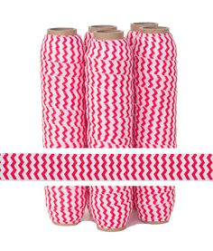 Red Chevron Fold Over Elastic- Valentines Day