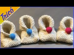 Saia Midi em Crochê passo a passo Prof. Simone Eleotério - YouTube Baby Booties Knitting Pattern, Knitting Patterns, Crochet Bebe, Baby Slippers, Baby Sweaters, Lana, Baby Shoes, Booty, Make It Yourself