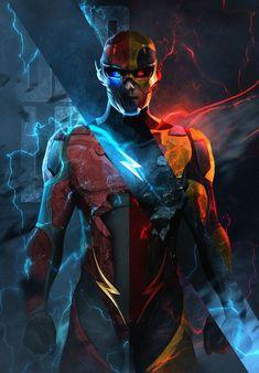 The flash, the rival, zoom And reverse flash Arte Dc Comics, Marvel Comics, Heros Comics, Dc Heroes, Flash Comics, Dc Super Heroes, Zoom Dc Comics, Mcu Marvel, Dc Comics