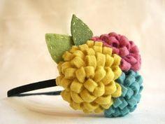 Cobaia Cute: Tiaras e headbands de feltro