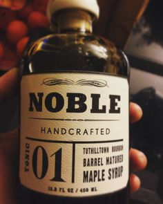 """""""Not as much bourbon flavor as I'd like, (pretty light actually), BUT it is damn good maple syrup. #maple #maple syrup #barrelagedmaplesyrup @tuthilltown…"""""""