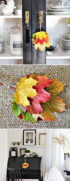 Herbstdekoration aus der Natur..