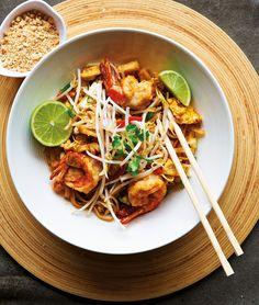 Pad Thai mit Garnelen | http://eatsmarter.de/rezepte/pad-thai