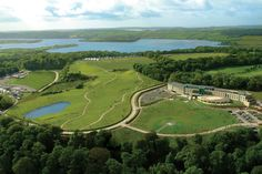 Tucked away on its own private island in South West Ireland is the ever stylish Fota Island. Island Resort, Aerial View, Golf Courses, Ireland, River, Outdoor, Outdoors, Rivers, The Great Outdoors