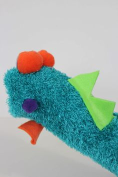 Adorable DIY Sock Puppet From The Back