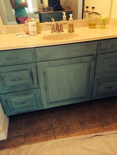 Painting And Distressing Bathroom Cabinets annie sloan chalk paint lamp makeover | painted lamp, lamp