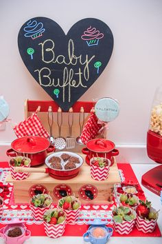 """SWEET """"Le Petit"""" Pink Kitchen Party {Baking Inspired} // Hostess with the Mostess® Festa Party, Diy Party, Party Favors, Master Chef, Chef Party, Toy Kitchen, Kitchen Tools, Baking Party, Little Chef"""