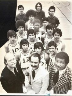 Nolan Richardson, bottom right, was the head basketball coach at Bowie High School, El Paso, Texas for 10 years.