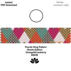 Seed Bead Patterns, Peyote Patterns, Pdf Patterns, Beading Patterns, Tutorial Anillo, Beaded Jewelry Designs, Bead Loom Bracelets, Wrap Pattern, Bead Jewelry