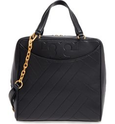 c4e2f2a1d509 Tory Burch Chevron Quilted Leather Satchel