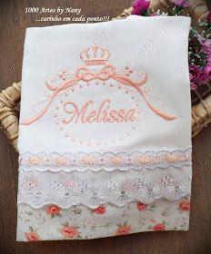 Olá!  Aproveitando para postar mais algumas fraldinhas de boca da  Melissa .  Semana que vem vou estar corujando, então, não sei quando vou ...
