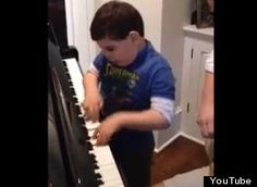 It looks effortless! Ethan Walmark, 6-Year-Old With Autism, Plays 'Piano Man' By Billy Joel