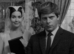 the loved one images anjanette comer robert morse | Robert Morse and Anjanette Comer from the film satire on America's ...