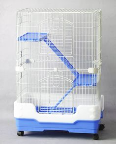 Homey Pet-3 and 1 Tiers Chinchilla Hamster Rat Ferret Cage with Sleeping Platform, Pull out tray, Urine Guard and Lockable Casters, L26'x W17'x H38'(3 Tiers) and L26'x W17'x H21'(1 Tier), Pink/Blue/Brown -- You can get additional details at the image link.