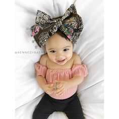 Headwrap: Outfit: mommy made Cute Baby Girl, Baby Love, Cute Babies, Baby Kids, Beautiful Children, Beautiful Babies, Newborn Outfits, Kids Outfits, Baby Girl Fashion