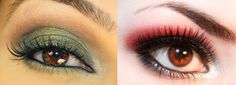 maquillage des yeux marrons tuto