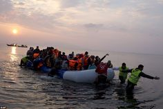 Up to seven boats were intercepted in dawn patrols by Greek coastguards in Lesbos this mor...