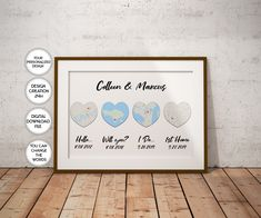 Hello Will You I Do Home Wedding Gift print Bride Gift Groom Personalized Wedding Gift Our Love Story wife Idea Gift date Print Custom map Heart Map, Photo Maps, Map Wall Art, Custom Map, Personalized Wedding Gifts, Home Wedding, Bride Gifts, Printable Wall Art, Groom