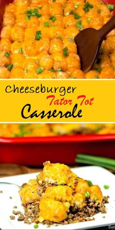 Brunch Ideas Discover Cheeseburger Tator Tot Casserole Looking for easy casserole recipes? Try this easy Cheeseburger Tator Tot Casserole Recipe. An Easy Tator tot Casserole recipe that is loaded with cheese and packed with flavor. Make it today! Tator Tot Casserole Recipe, Easy Hamburger Casserole, Easy Casserole Recipes, Easy Dinner Recipes, Crockpot Recipes, Cooking Recipes, Breakfast Casserole, Enchilada Casserole, Chicken Casserole