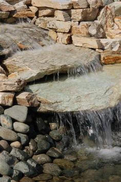 water feature idea. This would be lovely and cheap if you did a continuous cycle of a couple gallons of water. Love it