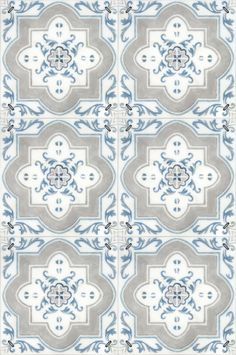 There is nothing more classic than the Catalina Patterned tile featured on a carrara marble.  This light blue spanish tile will look stunning in your kitchen or on your floor.