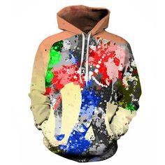 MU DING Fashion Colorful Paint Elephant Digital Print Women Hooded Hoodies  Cap Windbreaker Jacket 3D Sweatshirts Autumn Winter aa3fd06c1dd47