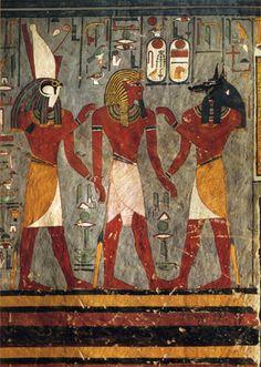 Hades God of the Underworld | ... Arte 2801N15856G Ramses I with Gods of the Underworld, Egyptian Art