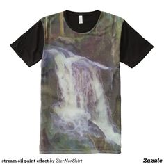 stream oil paint effect All-Over-Print T-Shirt Oil Paint Effect, Oil Painting Trees, Types Of T Shirts, Paint Effects, Stylish Shirts, S Shirt, Fit Women, Art Pieces, Photos