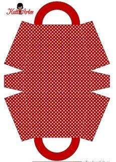 Caja roja con puntitos blancos